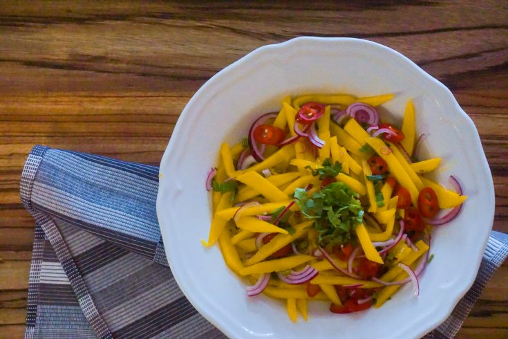 Vietnamese Mango Salad with Mint, Red Onion, and Chile