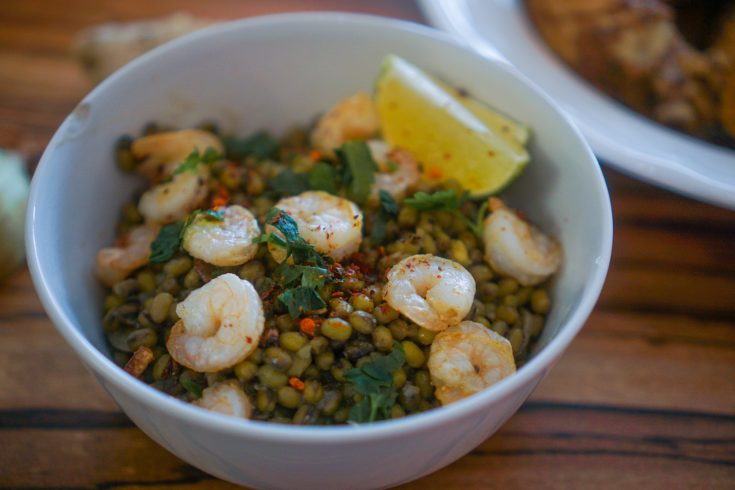 Munggo Guisado with Shrimp