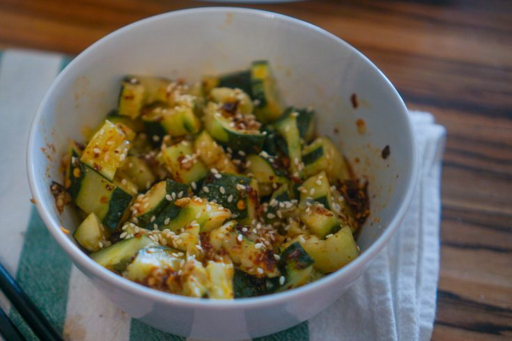 Garlicky & Spicy Sichuan Cucumber Salad