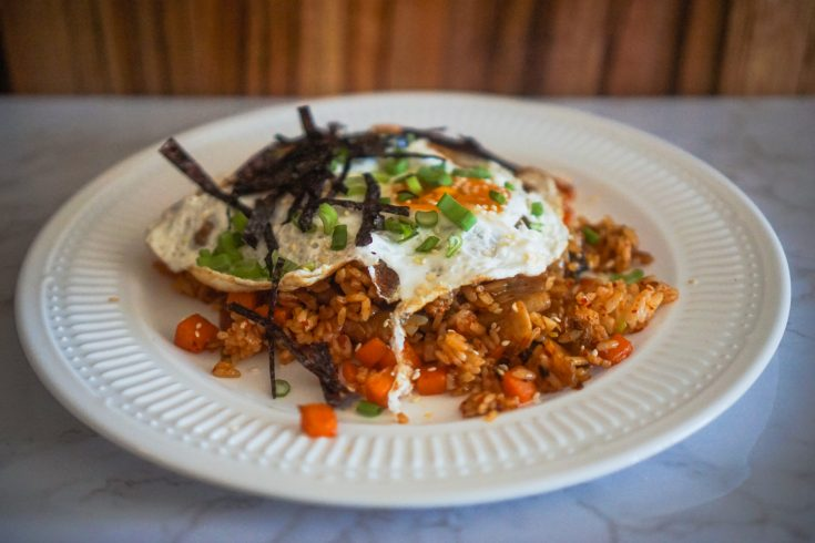 Vegetarian Kimchi Fried Rice