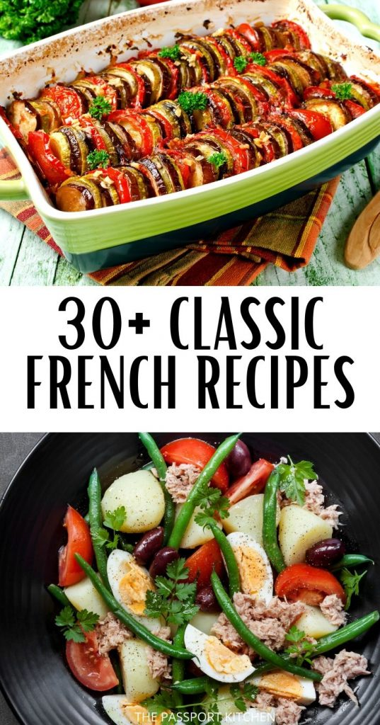 Want to cook like you're French? These classic French recipes, from ratatouille to bouef bourgignon to salade nicoise to steak frites, will help you master French cuisine standards. These are the best French appetizers, French salads, French main dishes, French dinners, and French sandwiches -- perfect for any French food lover!